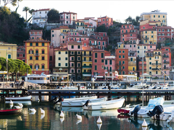 Italy: The town of Lerici in Liguria.